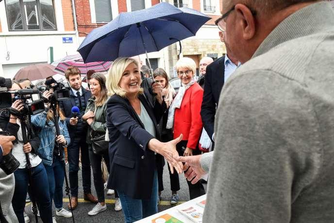 Marine Le Pen à Hénin-Baumont (Pas-de-Calais), le 8 septembre.