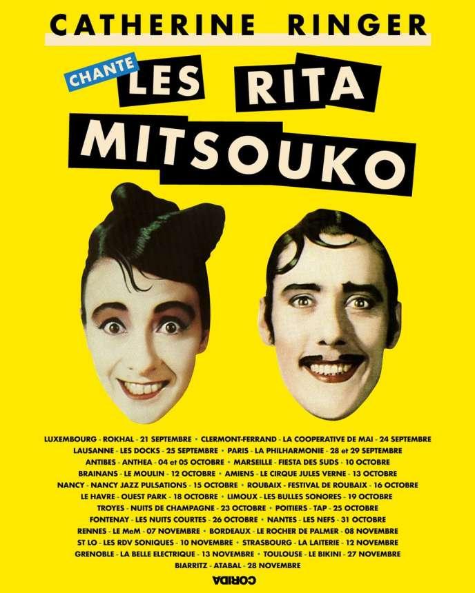 Affiche de la tournée Catherine Ringer chante Les Rita Mitsouko.
