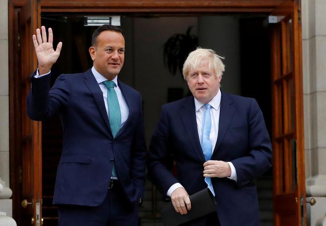 Le premier ministre irlandais, Leo Varadkar, et son homologue irlandais, Boris Johnson, le 9 septembre 2019 à Dublin.