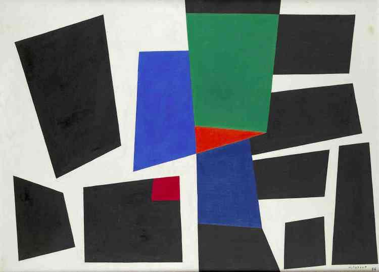 «Principal acteur, avec Pol Bury, de l'abstraction géométrique belge, JoDelahaut s'associe avec ce dernier pour rédiger en 1954 le manifeste du spatialisme, définissant les principes de ce courant. Pour eux, la structure de l'œuvre doit précéder l'expression. Leurs recherches formelles, fondées sur l'articulation dynamique des formes élémentaires, tendent avant tout à libérer l'art du bidimensionnalisme et à lui assurer une action sur l'environnement de l'homme.»