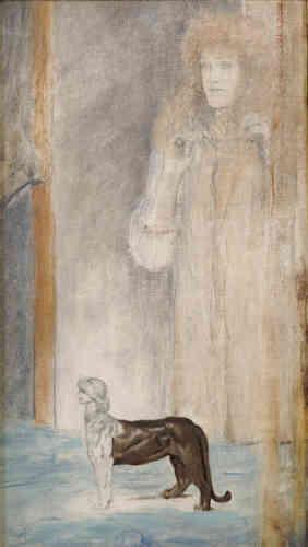 «Une prédilection particulière pour une féminité ensorcelante se manifeste dans la peinture symboliste. Elle est chez Fernand Khnopff, peintre symboliste à l'esthétique complexe, glacée, inaccessible et pétrifiante.»