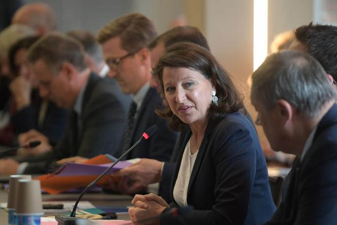 La ministre de la santé Agnes Buzyn, lors de la présentation de son plan pour les urgences, à Paris, le 9 septembre.
