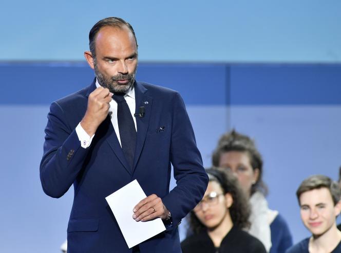 Le premier ministre, Edouard Philippe, s'exprime lors du «campus des territoires» de LRM à Bordeaux le 8 septembre.