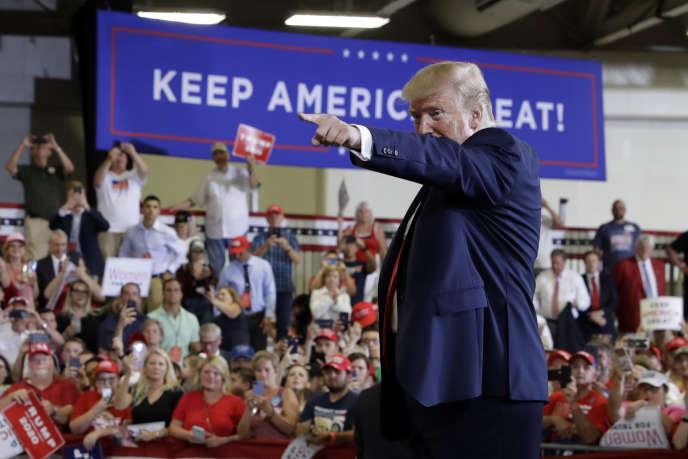 Donald Trump lors d'un meeting de campagne à Fayetteville, en Caroline du Nord, le9septembre.