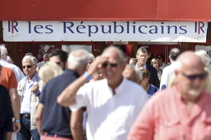 Lors de l'université d'été des Républicains, à La Baule, le 31 août.