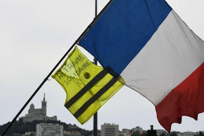A Marseille, lors d'une manifestation des « gilets jaunes», en avril.