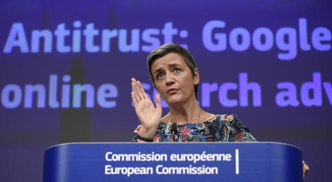 La commissaire européenne à la concurrence, Margrethe Vestager, en mars, à Bruxelles.