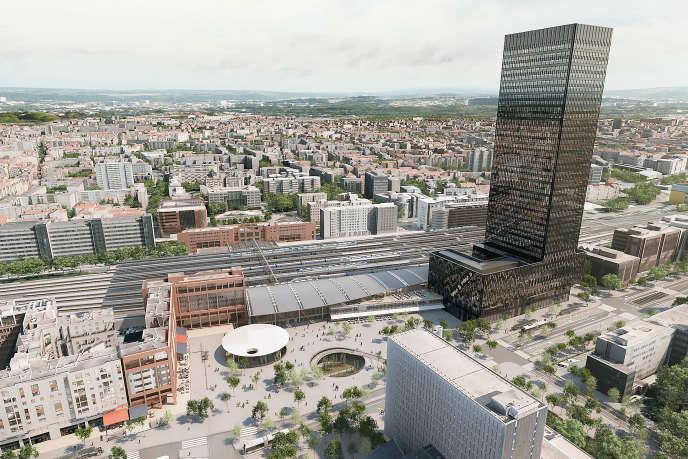 Construite à côté de la gare de Lyon Part-Dieu, la tour To-Lyon, dessinée par Dominique Perrault, s'élèvera à 170mètres de haut.