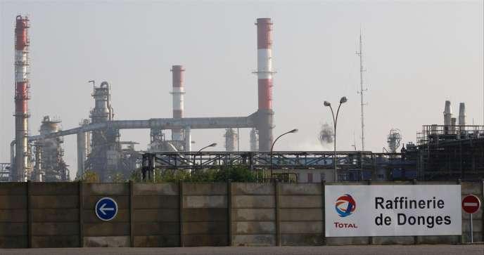 La raffinerie Total de Donges en 2010.