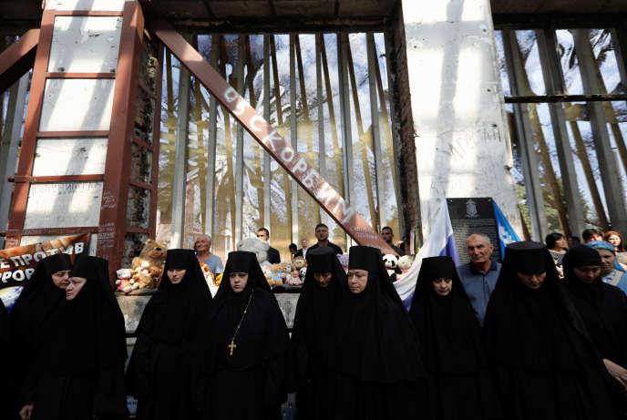 Commémoration du drame de la prise d'otage de l'école de Beslan, en Russie, le 3 septembre.
