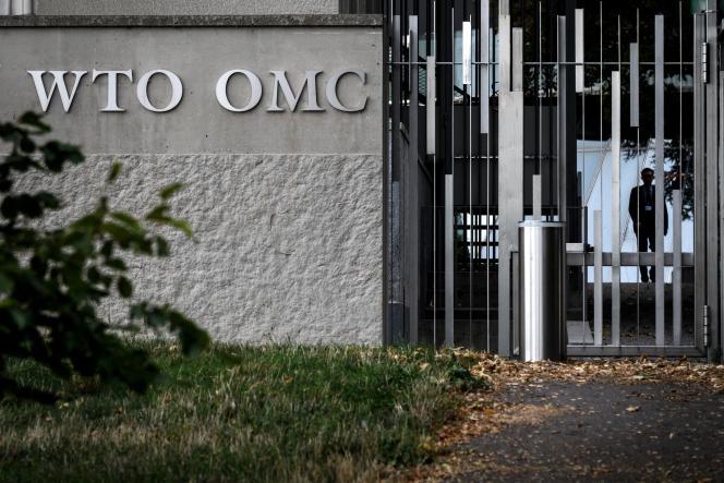 Le siège de l'Organisation mondiale du commerce, à Genève, en septembre 2018.