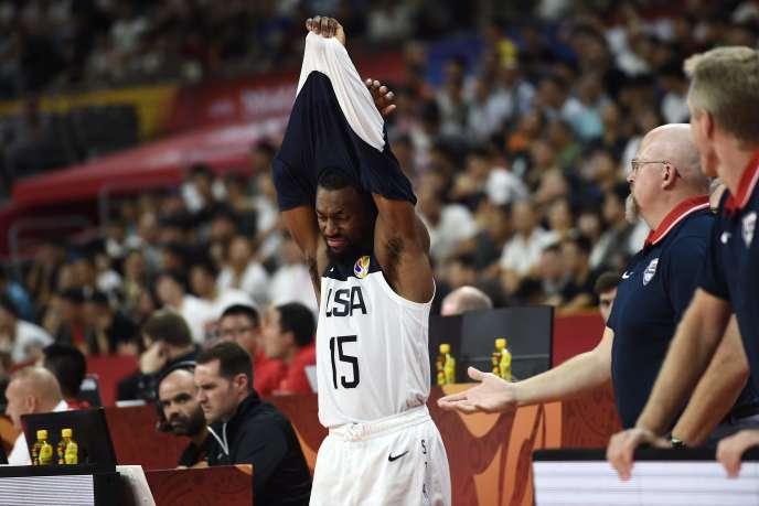 Le joueur américain Kemba Walker lors du quart de finale perdu par les Etats-Unis face à la France, à Dongguan (Chine) le 11 septembre.