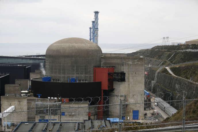 Sur le site nucléaire de Flamanville (Manche), en février 2017.