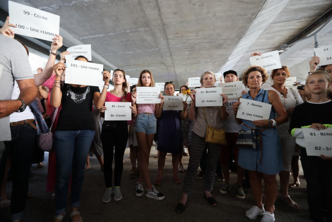 Hommage aux victimes de féminicides à Cagnes-sur-Mer (Alpes-Maritimes), le 2 septembre.