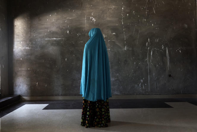 Une victime de Boko Haram, en 2017, dans les locaux de la Fondation Neem, qui leur vient en aide.
