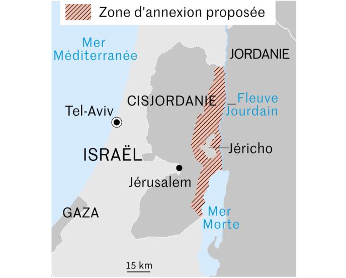 Projet d'annexion de la vallée du Jourdain par Benyamin Nétanyahou le 10 septembre 2019.