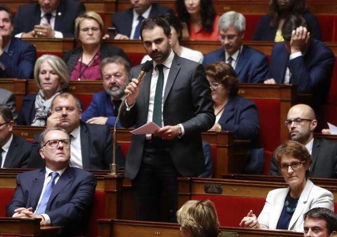 Laurent Saint-Martin, rapporteur LRM du budget, à l'Assemblée nationale, en septembre 2017.