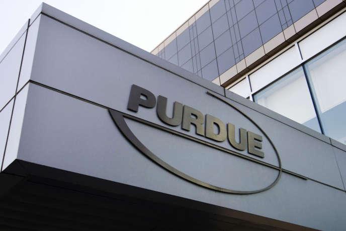Le siège social de Purdue Pharma à Stamford, dans le Connecticut (Etats-Unis).