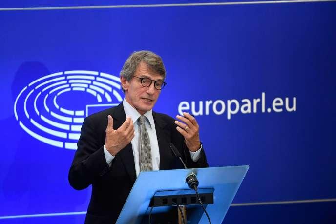 Le président du Parlement européen, David Sassoli, le 12 septembre, à Bruxelles.