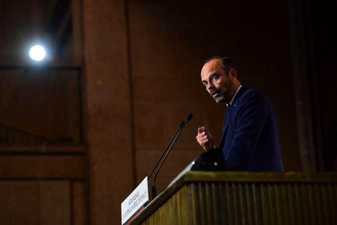 Edouard Philippe s'exprime devant le Conseil économique social et environnemental (CESE),le12septembre.