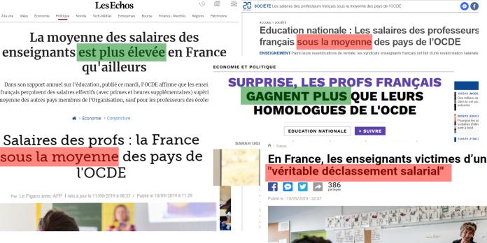 Les enseignants gagnent-ils plus ou moins en France que dans les autres pays ?