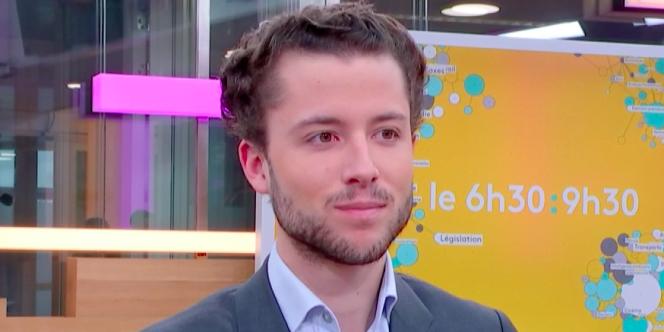 Côme Girschig, le 15 mars à France TV Info.