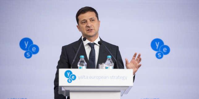 A Kiev, le président Zelensky disserte sur le «bonheur» de l'Ukraine