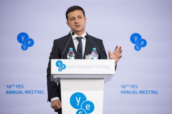 Leprésident ukrainien Volodymyr Zelensky, le 13 septembre à Kiev.