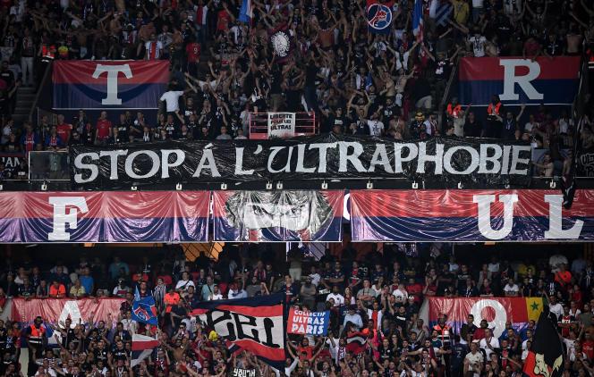 Au Parc des princes, à Paris, lors du match Paris Saint-Germain - Toulouse, le 25 août 2019.