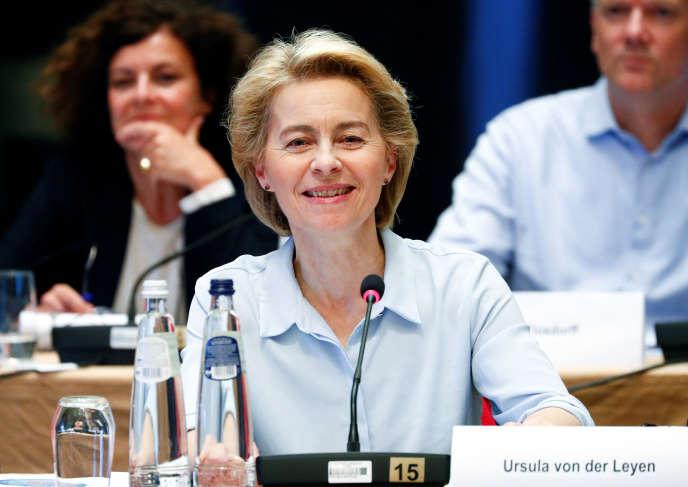 La future présidente de la Commission européenne, Ursula von der Leyen, à Genval, en Belgique, le 12 septembre.
