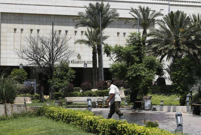 La façade de l'hôtelFour Seasons de Damas, en juin. La chaîne hôtelière américaine a plié bagage le même mois, en raison des sanctions américaines.