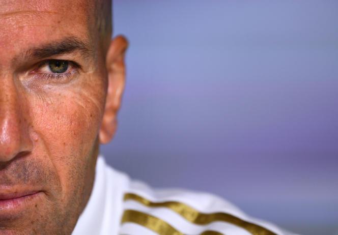 Zinedine Zidane, le 13 septembre à Madrid.