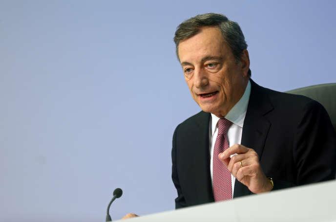 Le président de la Banque centrale européenne (BCE), Mario Draghi, à Francfort (ouest de l'Allemagne), le 12 septembre.