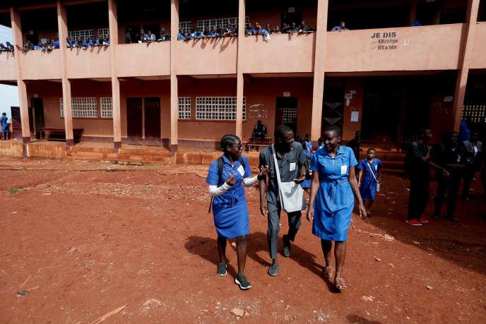 Au lycée bilingue de Yaoundé en mai 2019.