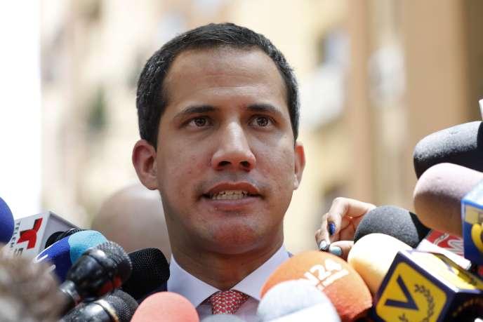 Juan Guaido à Caracas, le 13 septembre 2019.
