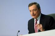 Mario Draghi, le président de la Banque centrale européenne, lors de la conférence de presse du 12 septembre, à Francfort, en Allemagne.