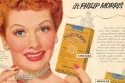 Campagne publicitaire pour les cigarettes Philip Morris (1953).