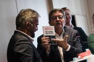 Jean-Luc Mélenchon tient une conférence de presse à la Maison de l'Amérique Latine, le 12 septembre.