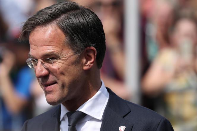Le premier ministre néerlandais, Mark Rutte, à Terneuzen, aux Pays-Bas, le 31 août.