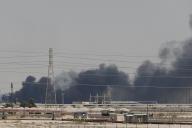 L'incendie de l'installation d'Aramco à Abqaiq, samedi 14 septembre.