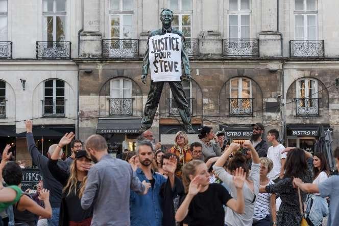 Hommage à Steve Maia Caniço à Nantes, le 12 septembre.