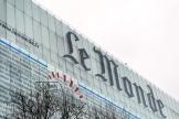 La façade du journal Le Monde, à Paris.