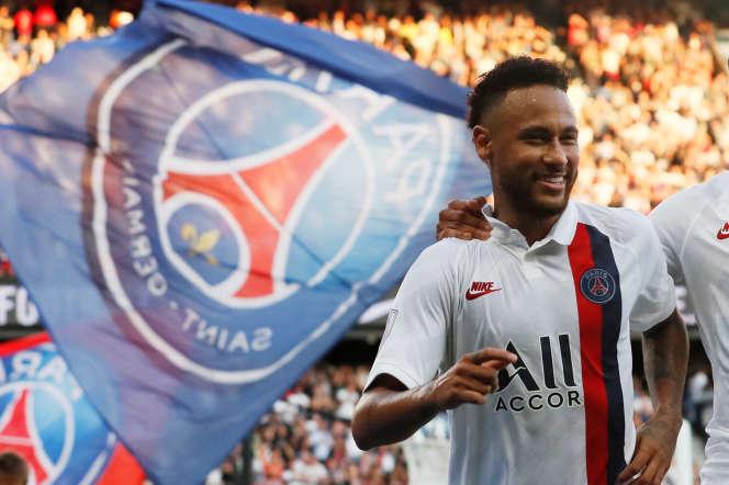 Neymar, contre Strasbourg, le 14 septembre.