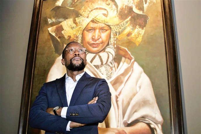 Mandla Sibeko, directeur de la FNB Art Joburg, la veille de l'ouverture de la foire, le 12 septembre.