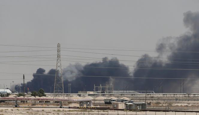 Les installations pétrolières d'Aramco àAbqaïq, en Arabie saoudite, le 14septembre.