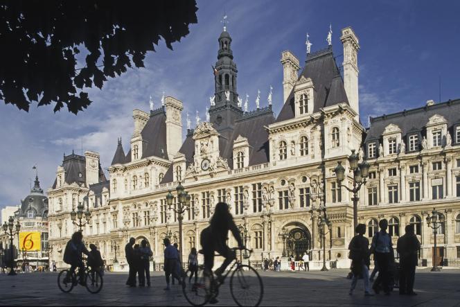 L'Hôtel de ville de Paris, dans le 4e arrondissement.