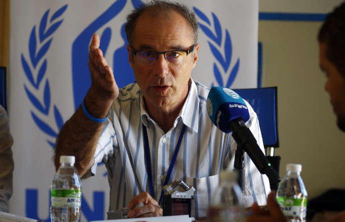 Jean-Paul Cavalieri, le chef de mission du HCR en Libye, à Tripoli, le 15 septembre 2019.