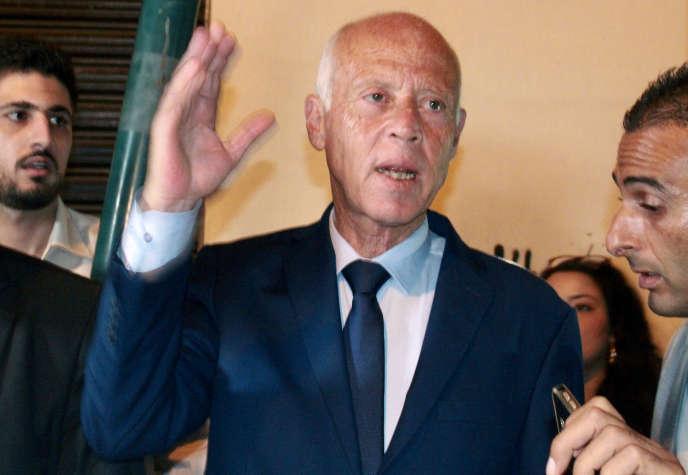 Kaïs Saïed est arrivé en tête du premier tour de la présidentielle tunisienne, le 15 septembre 2019.