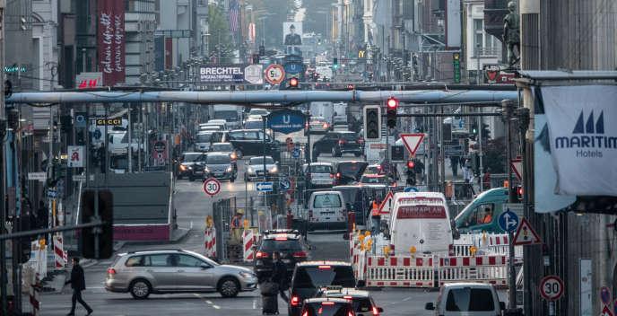 La Friedrichstrasse, l'une des artères principales de Berlin, en octobre 2018.