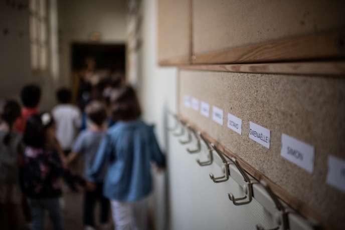 Une école primaire de Paris, le 2 septembre.